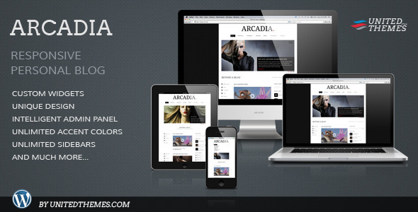 ThemeForest - Arcadia Responsive WordPress Blog
