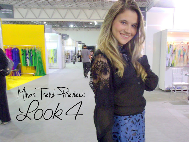 Look do dia - Minas Trend Preview - Carla Azeredo - Saia de Couro - Blusa Transparencia