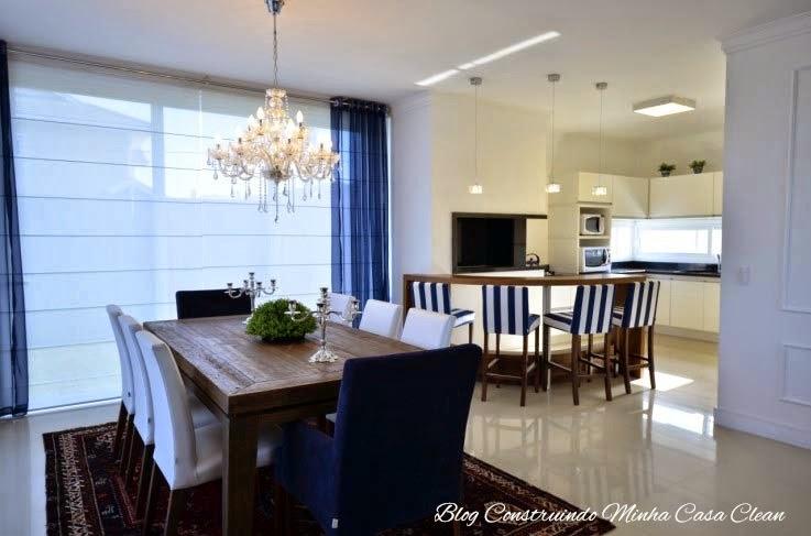Cozinha Com Sala De Jantar Grande ~ Cozinha com churrasqueira integrada a sala de jantar! A