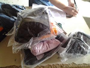 catalogação das roupas do brechó NC