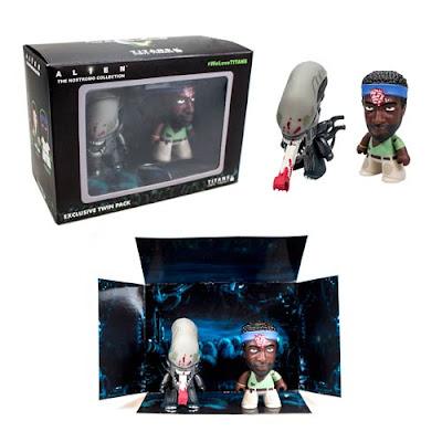"Alien Titans ""Brain Splatter"" Chief Engineer Parker & Bloodied Xenomorph Big Chap Mini Figure 2 Pack Set by Titan Merchandise x Matt JOnes"