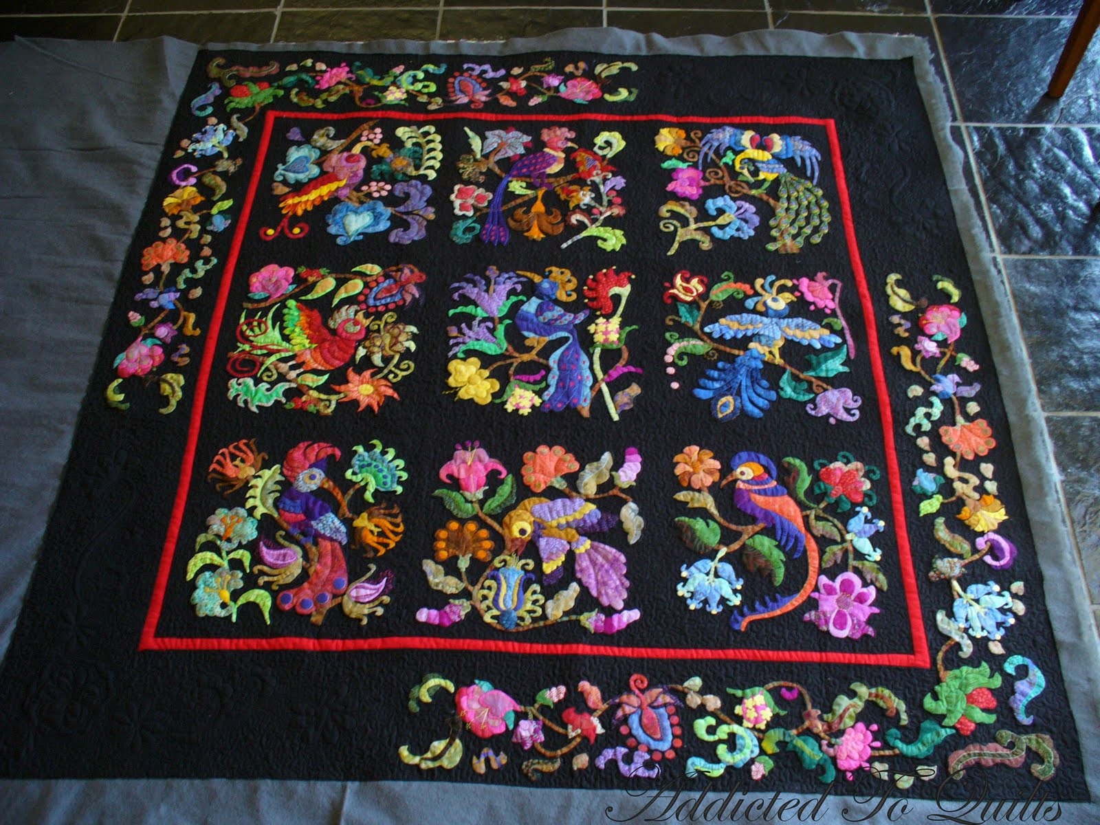 Addicted To Quilts: Birds of Paradise Quilt : quilts with birds - Adamdwight.com
