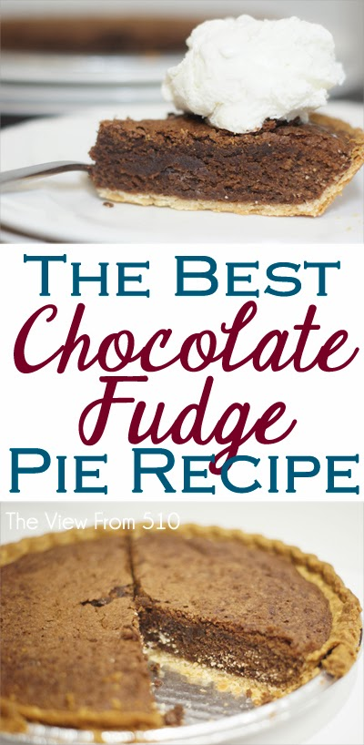 The Best Chocolate Fudge Pie #Recipe