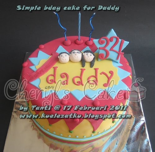 ... Tahun Anak  CupCake  Birthday Cake: Simple birthday cake for Daddy