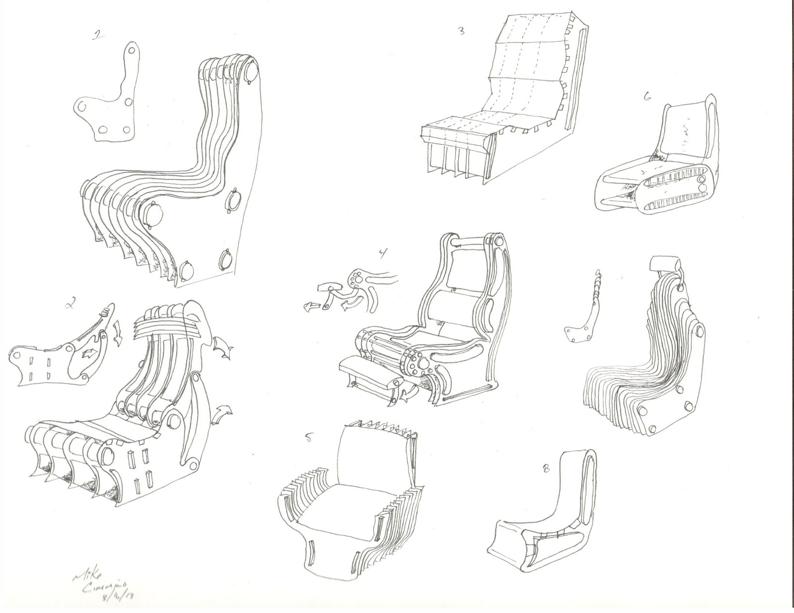 Chair design drawing - Concept Sketches Chair Design Matrix