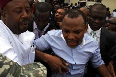 Radio biafra's nnamdi kanu appears before abuja court