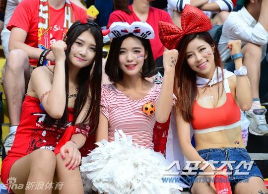 Wowow! Ini Dia Para Suporter Seksi Korea Selatan Di Piala Dunia 2014 - Berita