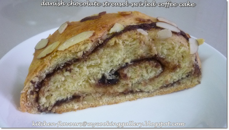 kitchen flavours: THB : Danish Chocolate Streusel-Swirled Coffee Cake