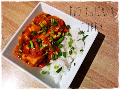 czerwone curry z kurczakiem red chicken curry