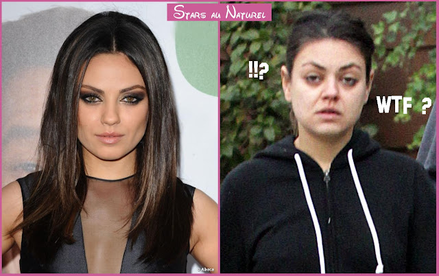 Mila Kunis sans maquillage