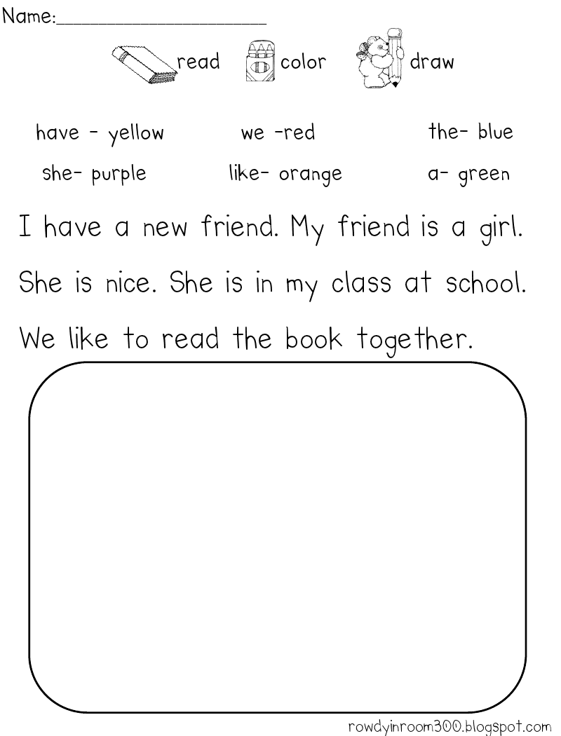 Worksheet Kindergarten Comprehension Worksheet february 2013 rowdy in room 300