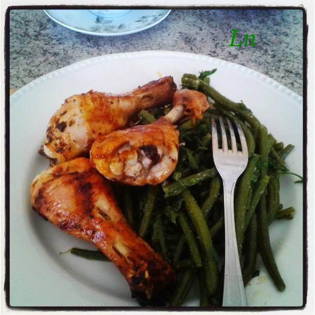 Keskonmangemaman poulet grill sauce sakari et haricots - Cuisiner des haricots beurre ...