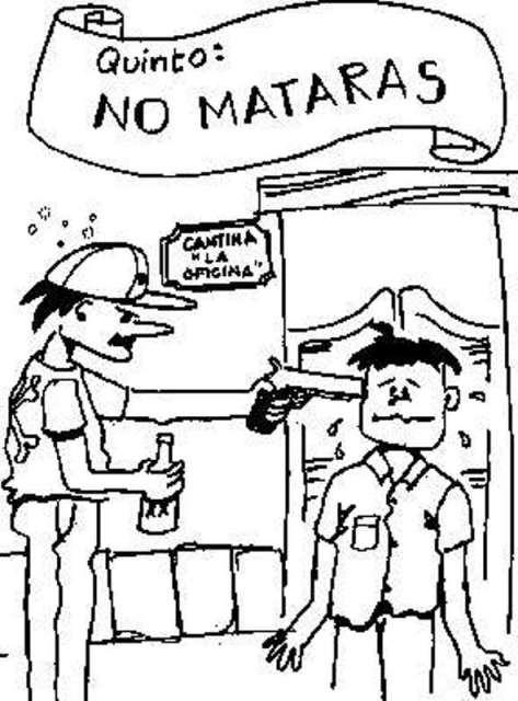 "Portal Escuela Colorear quinto mandamiento ""No matarás"""