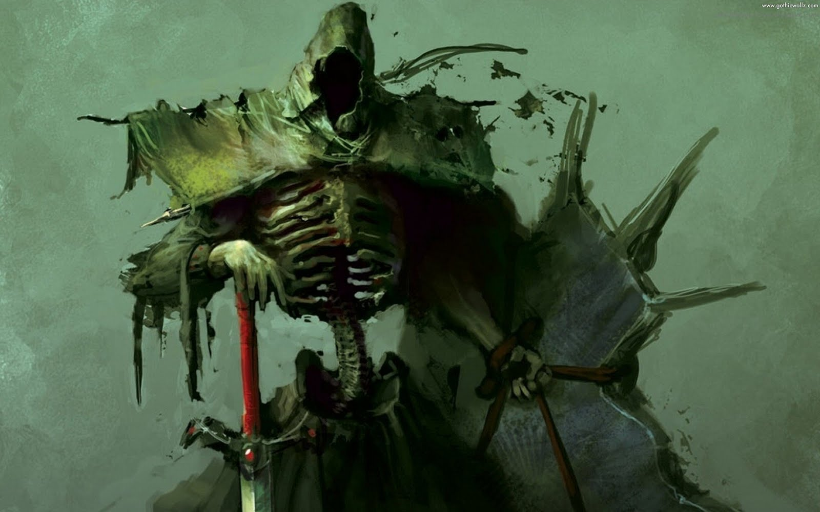 Horror Skeleton | Gothic Wallpaper Download