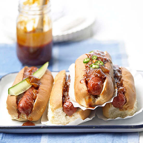 My Favorite Things: Summertime Hot Dogs with Dr Pepper Barbecue Sauce