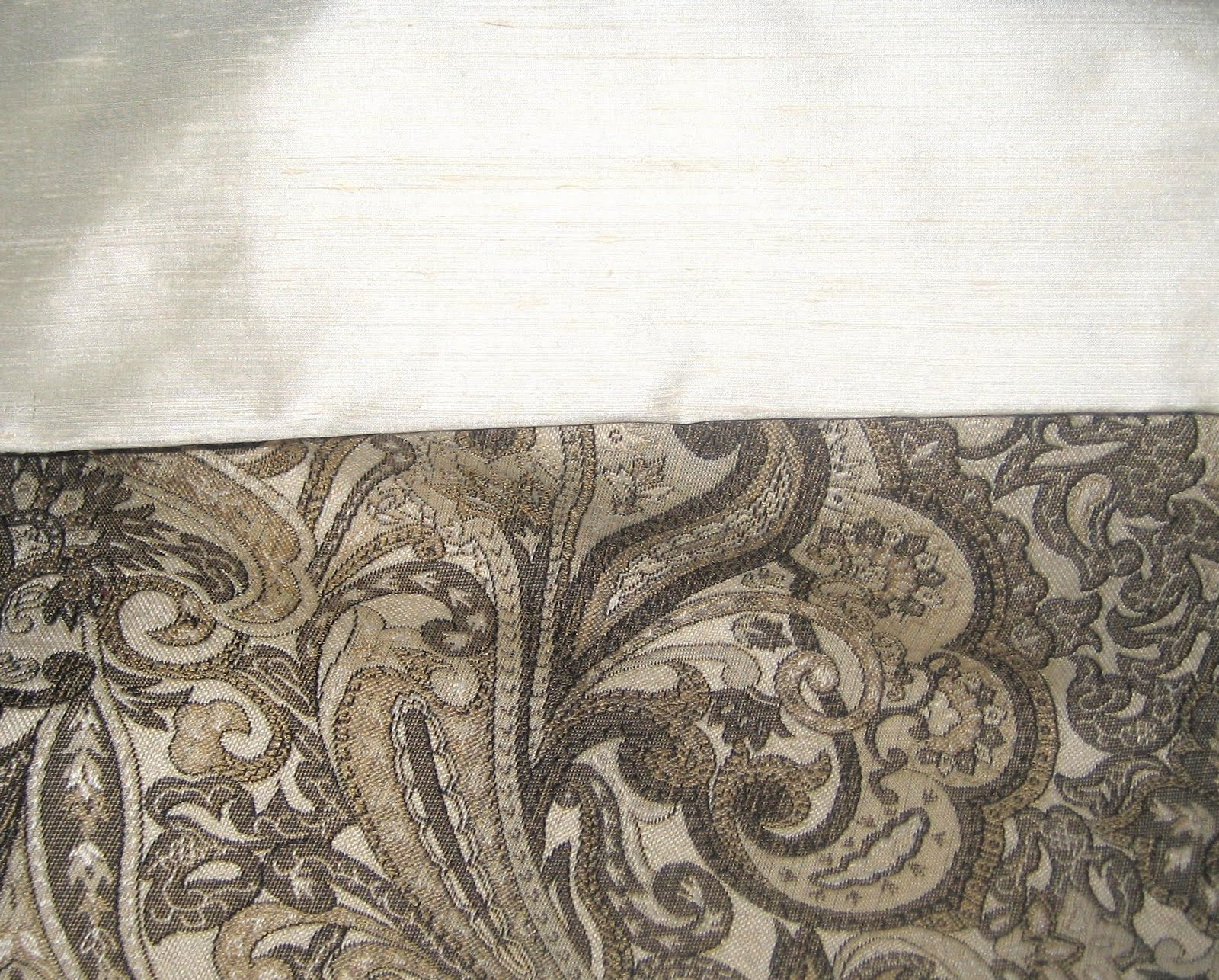 Cream dupioni silk and tapestry for What do we use silk for