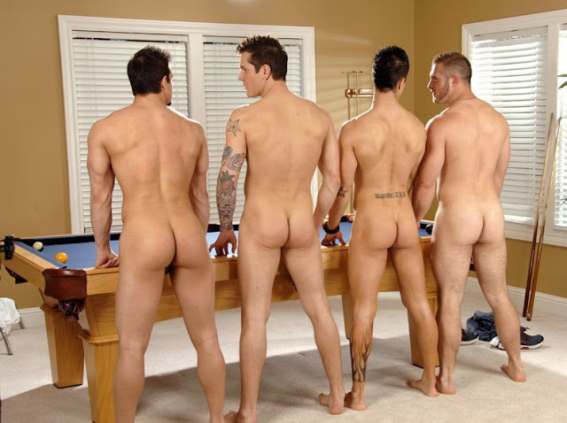 Guys getting butt naked