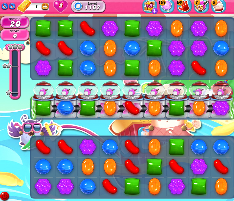 Candy Crush Saga 1167