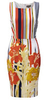 Sunset pencil dress