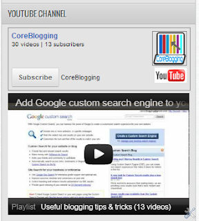 How to add a YouTube subscribe button widget on your blog?