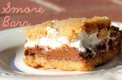 Baked S'more Bars take s'more making up a notch.