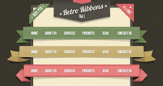 Retro ribbon for your site