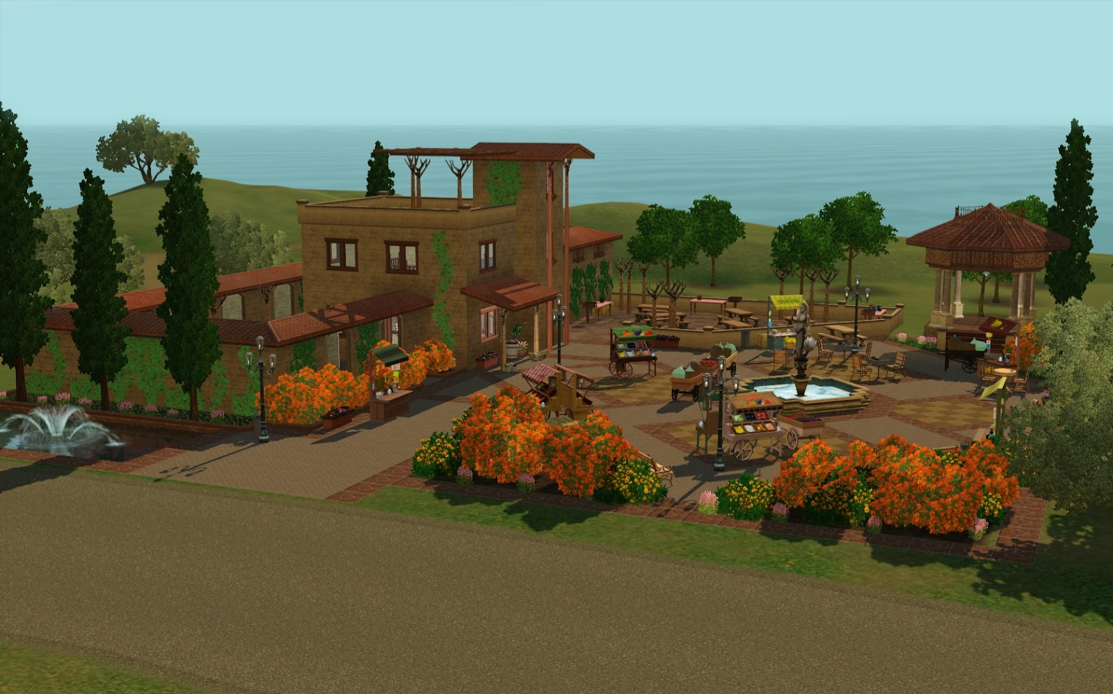 charming montevista com #2: Note: This is a premium lot that comes with the Monte Vista neighborhood  and needs to be added to the town via Edit Town. Address: None