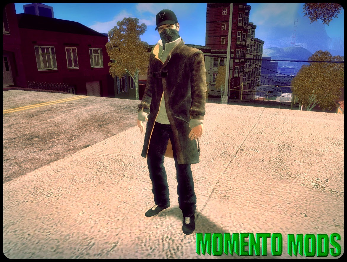 GTA SA - Skin Aiden Pearce De Watch Dogs