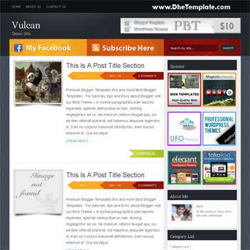 Vulcan template blogger. convert wordpress theme to blogger template.wordpress to blogspot template. elegant blogger template