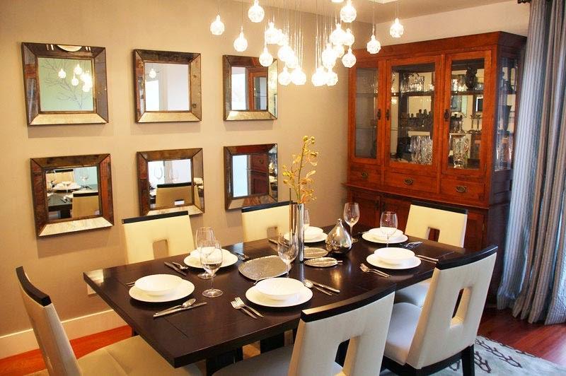 contoh desain lampu ruang makan keluarga