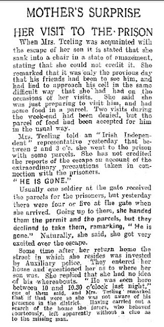 Frank Teeling escapes from Kilmainham