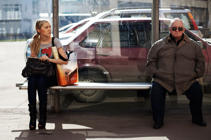 Image result for bus stop talking people