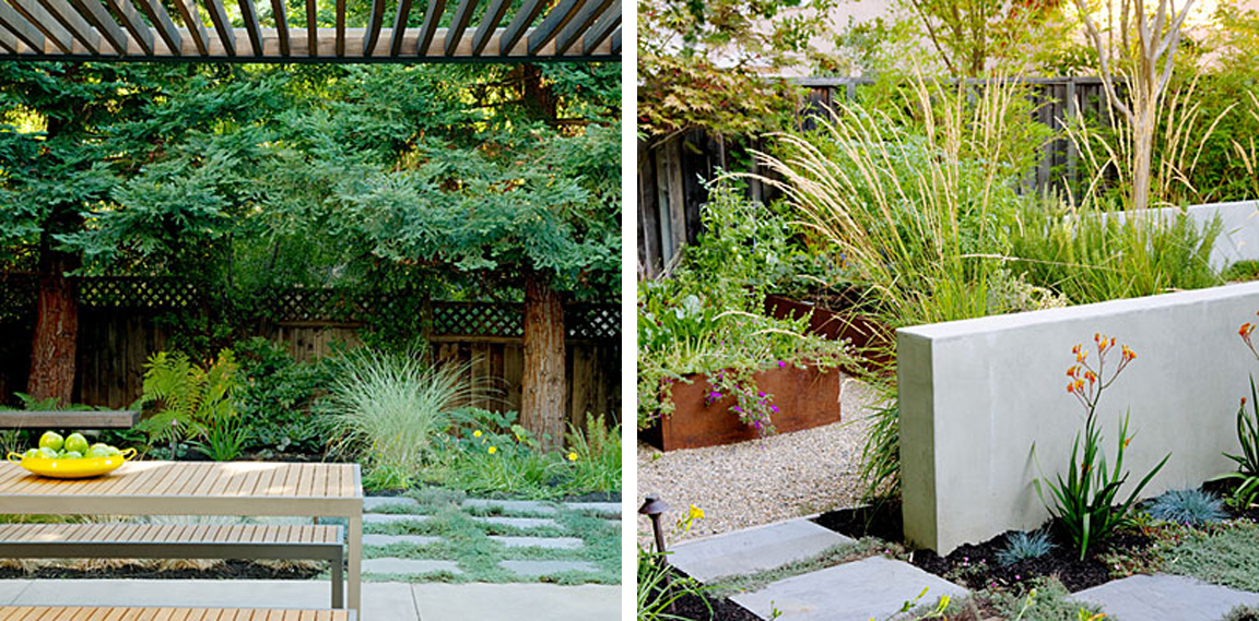 BLACK WHITE YELLOW Backyard Zones from Sunset Magazine
