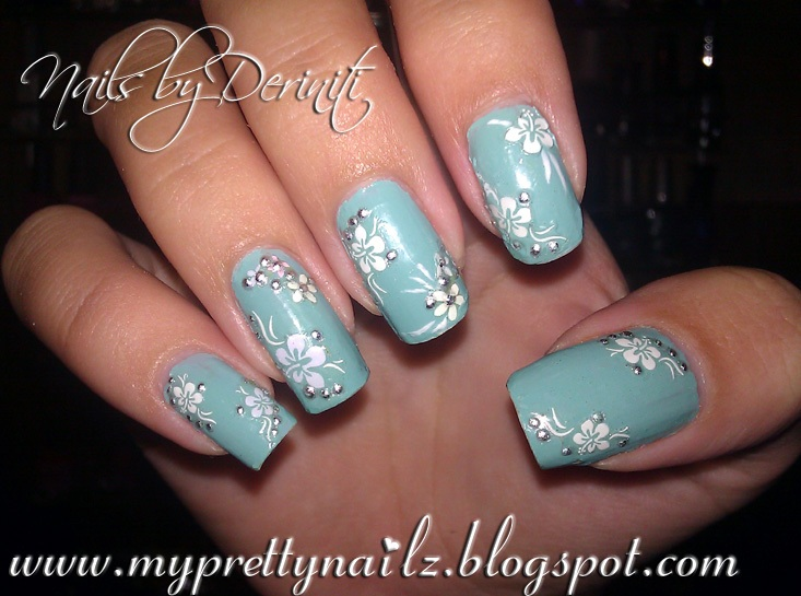China Glaze For Audrey & Nail Decals - My Pretty Nailz: SUPER EASY EASTER NAIL ART FLOWER DESIGN USING DECALS
