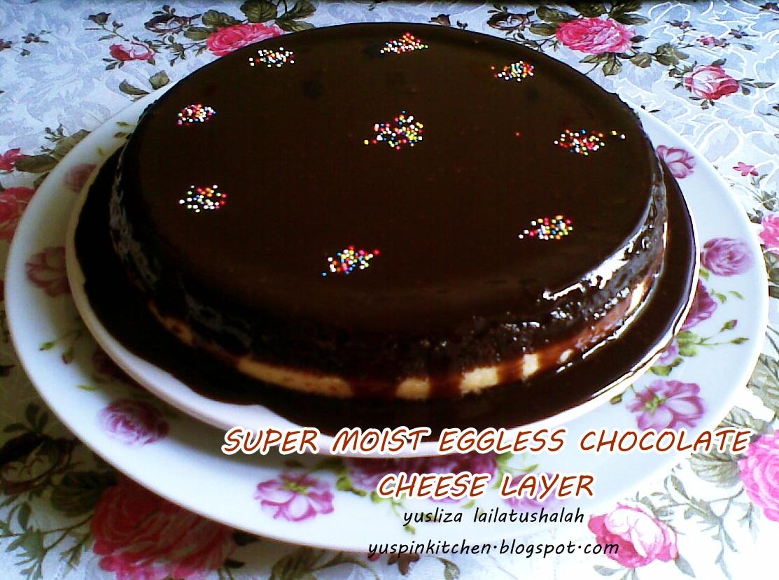 PinKitchen: SUPER MOIST EGGLESS CHOCOLATE CAKE WITH CREAM CHEESE