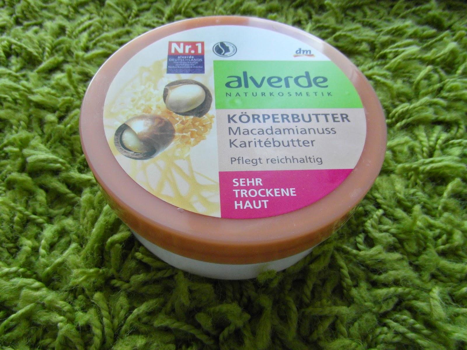 Alverde telové maslo s olejom z makadámiových orechov a maslom karité pre veľmi suchú pokožku