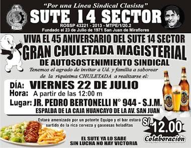 22 DE JULIO GRAN CHULETADA DE AUTOSOSTENIMIENTO SINDICAL