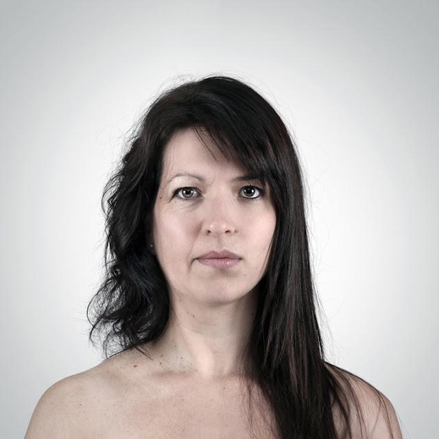 """""""Retratos Genéticos"""" - El rostros de dos miembros de una familia combinadas en una sola fotografía"""