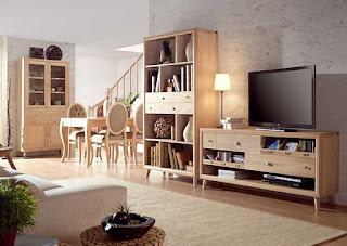 Decoraci n de salones con madera clara - Lo ultimo en muebles de salon ...