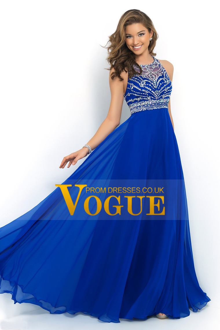 Royal blue prom dress makeup - Dress on sale