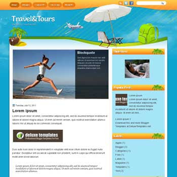 TravelTrours blogger template. template blogspot magazine style. download travel template for blogger