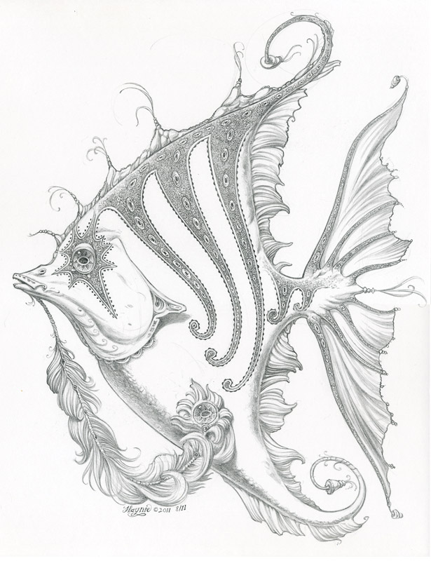 Art of jeff haynie new drawings for Drawings of fish