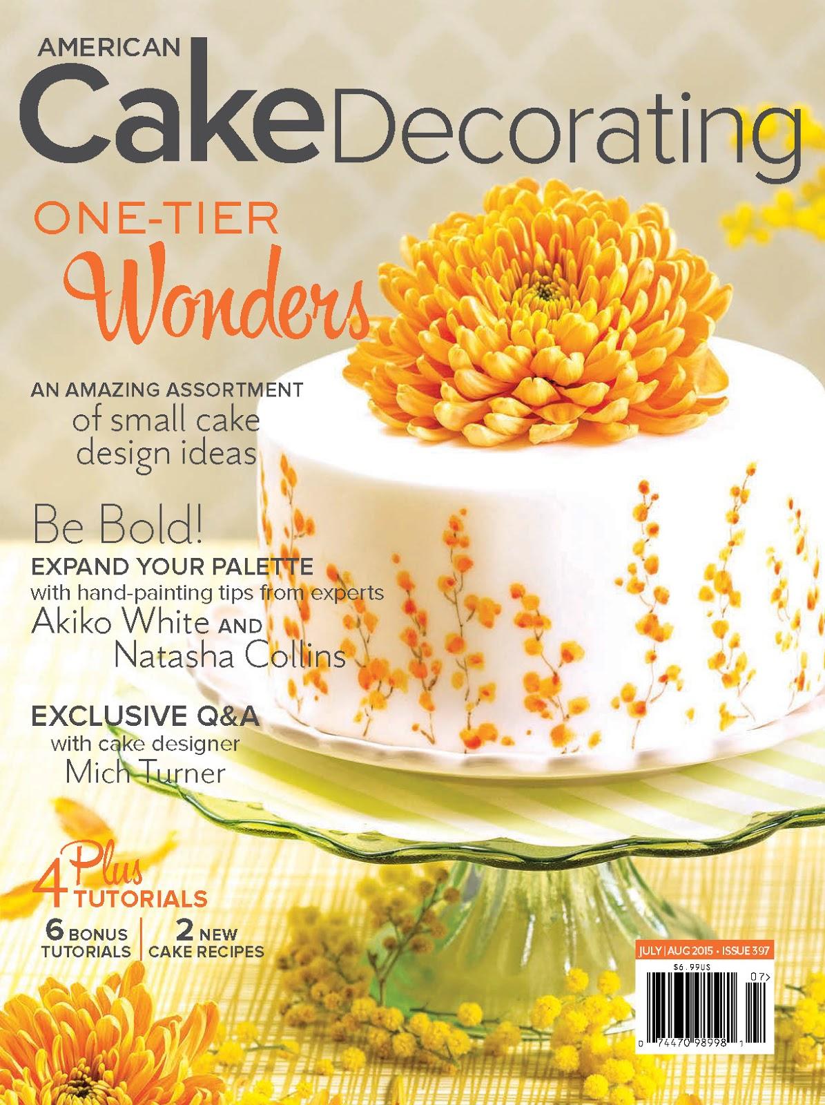 Feature in American Cake Decorating Magazine | Akiko White Art