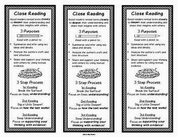 http://www.teacherspayteachers.com/Product/Close-Reading-Bookmarks-968362