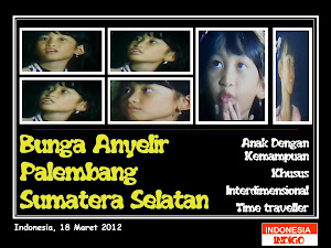 "ANAK INDIGO 22 (VERSI BUNGA ANYELIR ""ANYE"" - PALEMBANG - SUMSEL)"
