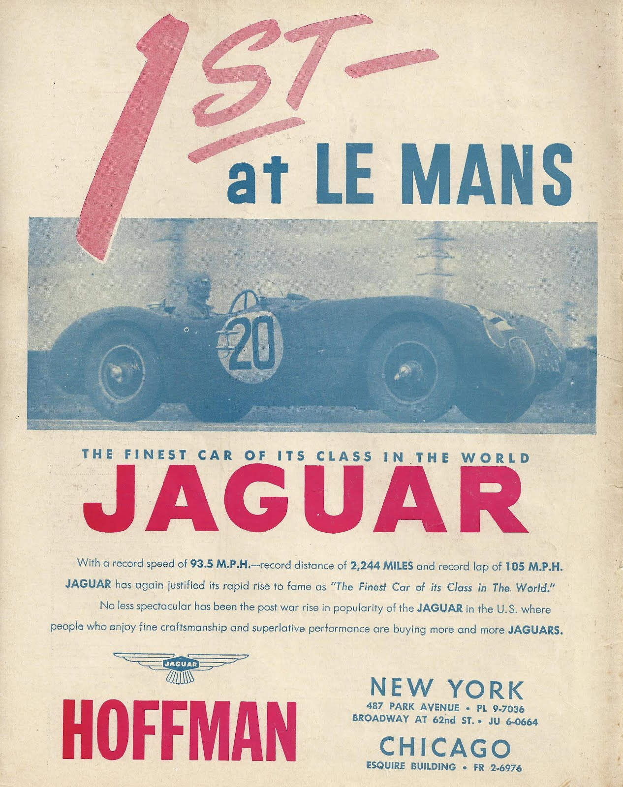 Fast is fast     1952 Jaguar ad