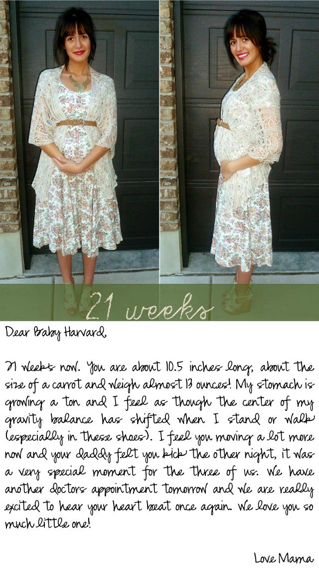 Maternity Series >> 21 weeks | Dearest Lou