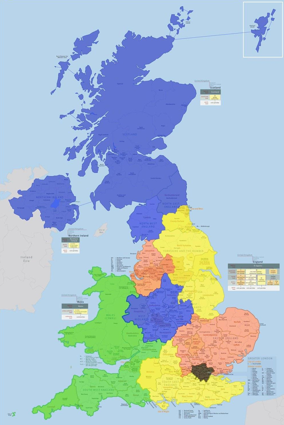This map of the UK split into regions with the same population as London