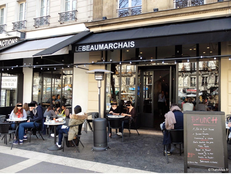 belle terrasse Le Beaumarchais Paris Bastille café restaurant brunch pas cher à Paris Beaumarchais buffet dessert à volonté