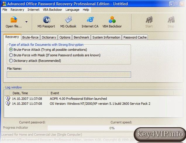 Advanced Office Password Recovery 6.01.632 Full,Phần mềm tìm lại mật khẩu Office